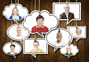 http://www.dreamstime.com/royalty-free-stock-photos-set-faces-hanging-colourful-speech-bubbles-image44820928
