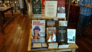 Surface and Shadow on display at Scuppernong Books in Greensboro, N.C.